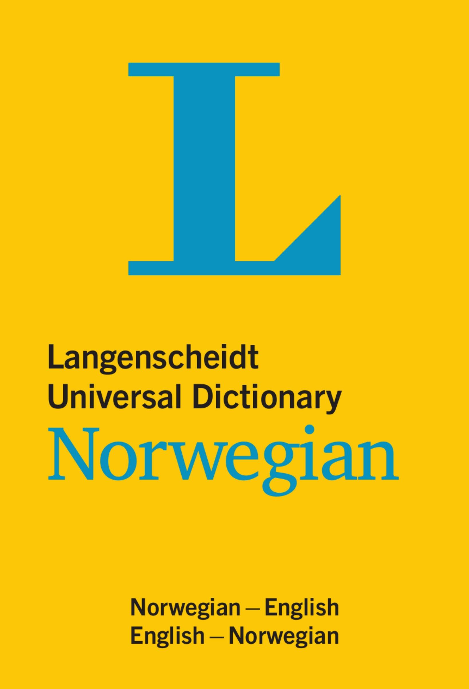 Langenscheidt Universal Dictionary Norwegian: Norwegisch-Englisch/Englisch-Norwegisch (Langenscheidt Universal Dictionaries)
