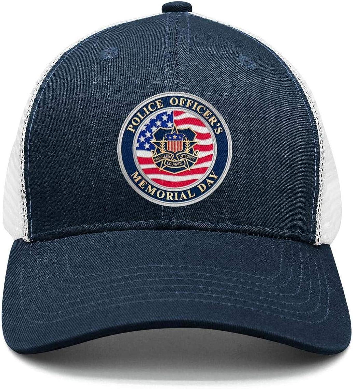TopCrazy Peace Officers Memorial Day Honoring Out Heros Trucker Hats Men//Women New Trucker Caps