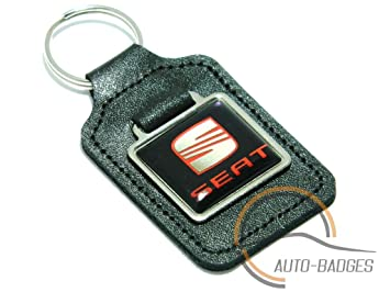 Auto-badges - Llavero de piel con logotipo de Seat, color ...