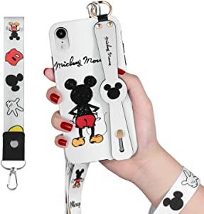 Xly Phone Case for iPhone XR Case - Features Cartoon -Durable Exterior, Protection Against Scratches and Impacts - Wrist Strap and Lanyard Included for iPhone XR 6.1 Inch 2018