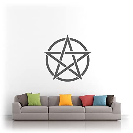 Wicca Wiccan Pentagram Pentacle Pagan Witchcraft - Vinyl Wall Art ...
