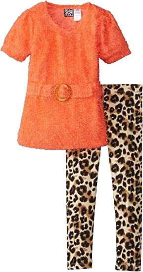 Pogo Club Little Girls Gray Polka Dot Tunic 2pc Legging Set