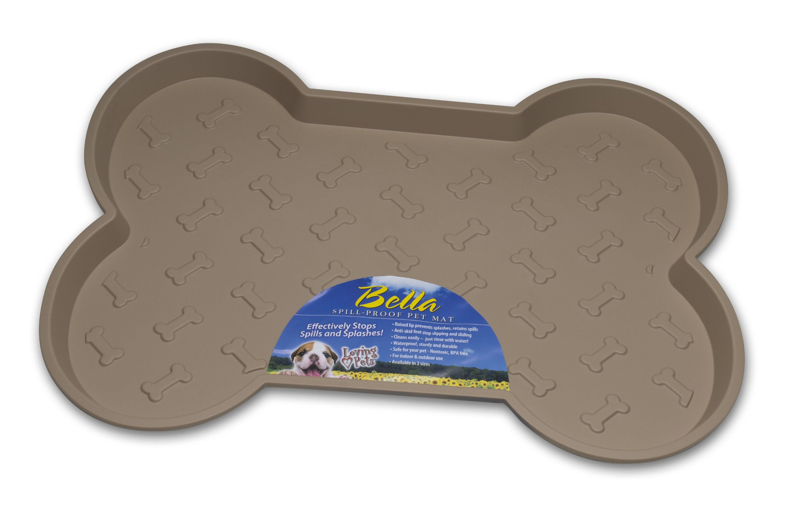 Loving Pets Large Tan - Bella Spill-Proof Mat