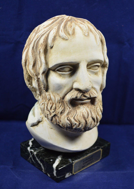 Euripides sculpture tragedian of classical Athens bust Estia Creations