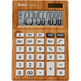 KARCE KC-DX640-10, 10-Digits Desktop Calculator, Wood Color