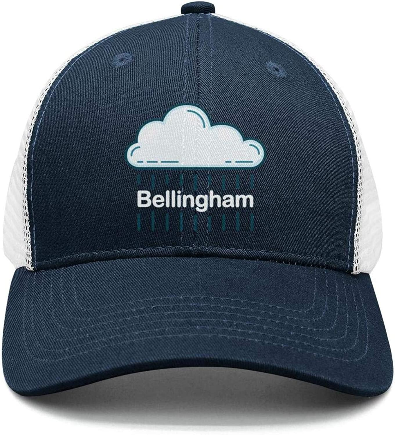 Cotton Casual Trucker hat Adjustable Fits Mesh Baseball Caps for Man and Woman smsdpmc Bellingham-Funny-Washington