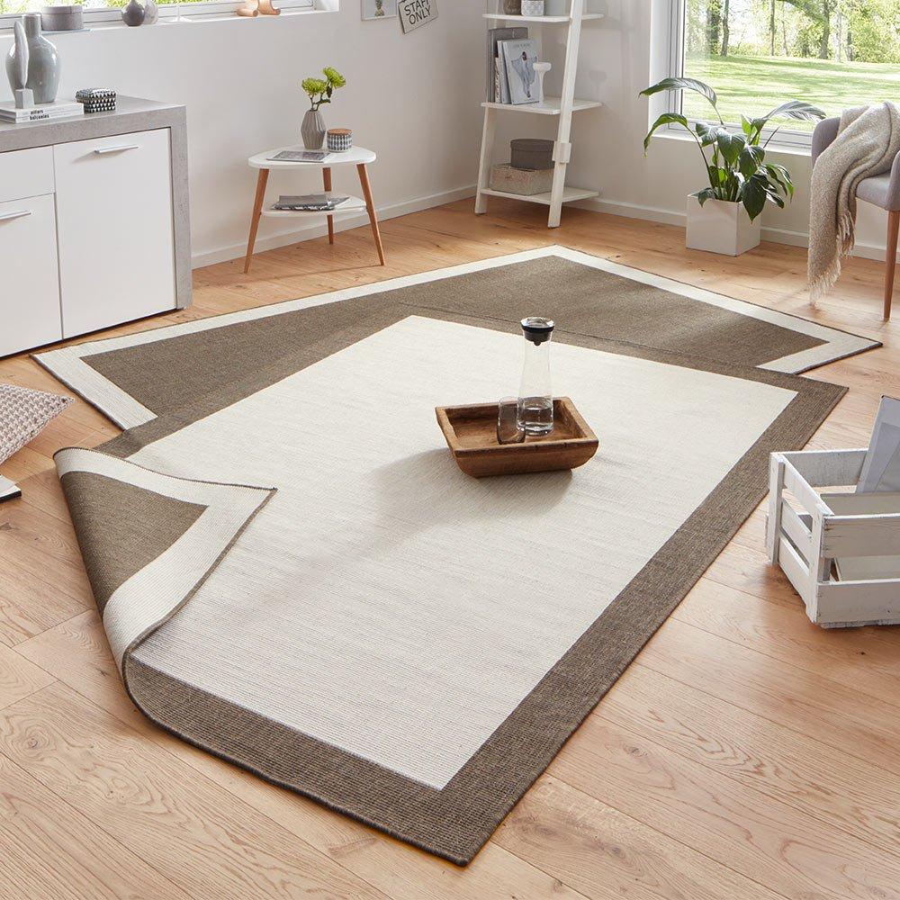 Bougari Panama Wendeteppich In- und Outdoorteppich braun   creme 200x290 B076M5597B Teppiche