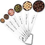 SveBake Measuring Spoons - Stainless Steel Accurate Spoons for Dry & Liquid Ingredients, Set of 6