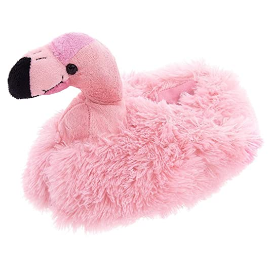 Adult  Pink Flamingo Slippers