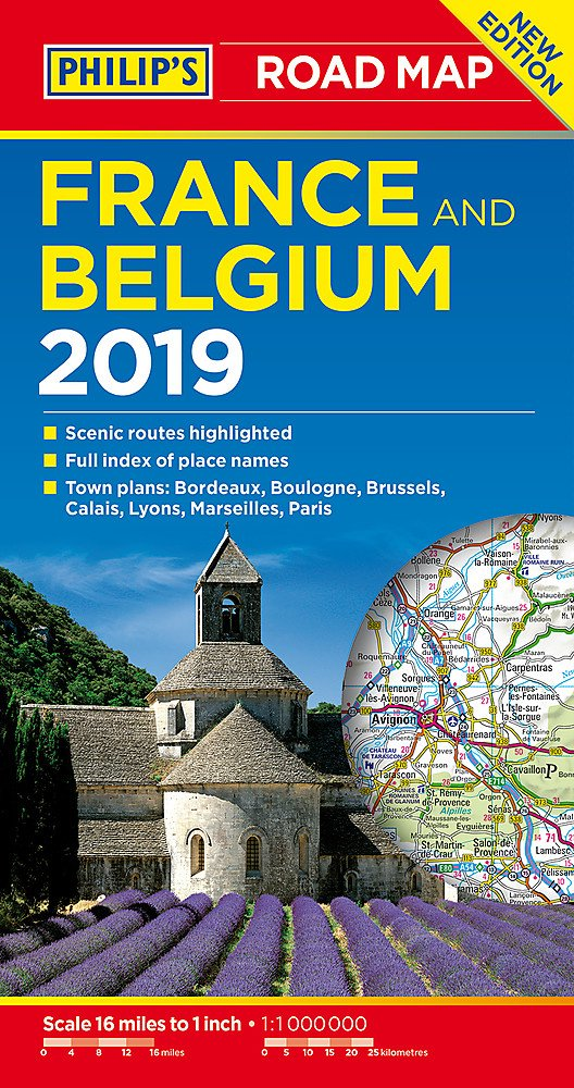 Clear Map Of France.Philip S Road Map France And Belgium Philips Road Maps Amazon Co