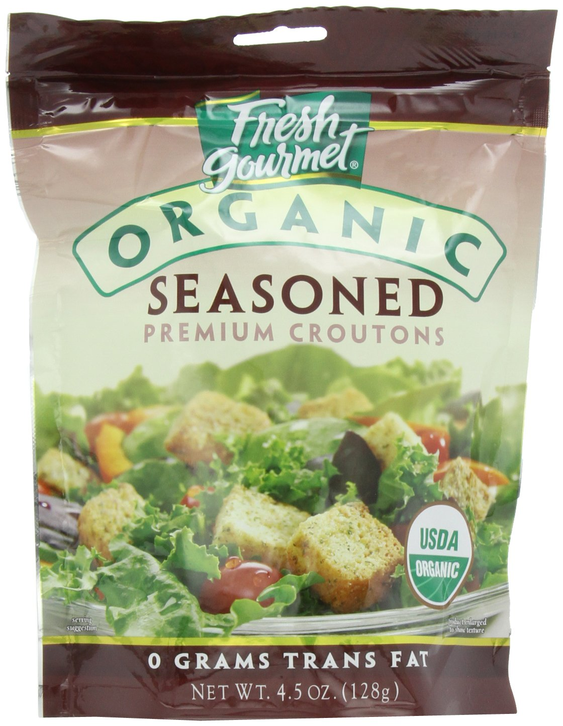 Fresh Gourmet Specialty Croutons, Organic Seasoned, 4.5 Ounce (Pack of 9)