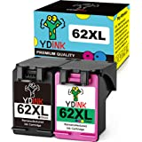 YDINK Remanufactured Ink Cartridge Replacement for HP 62XL Ink Cartridge High Yield Use for HP Envy 5643 Envy 5642 Envy 5660