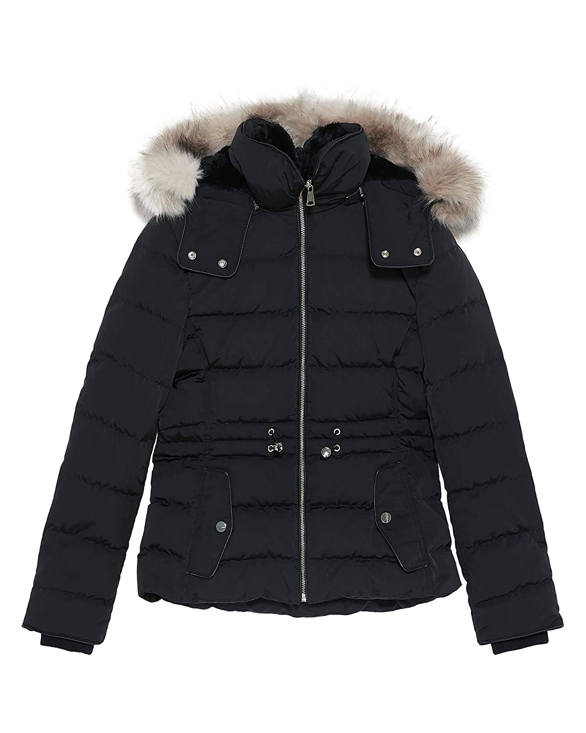 8996b10c1 Amazon.com: Zara Women Hooded Down Puffer Jacket 0518/047 Black ...