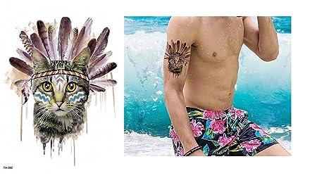 Gatos Tattoo TH de 092 gato con plumas ausdruckvolles Tattoo ...