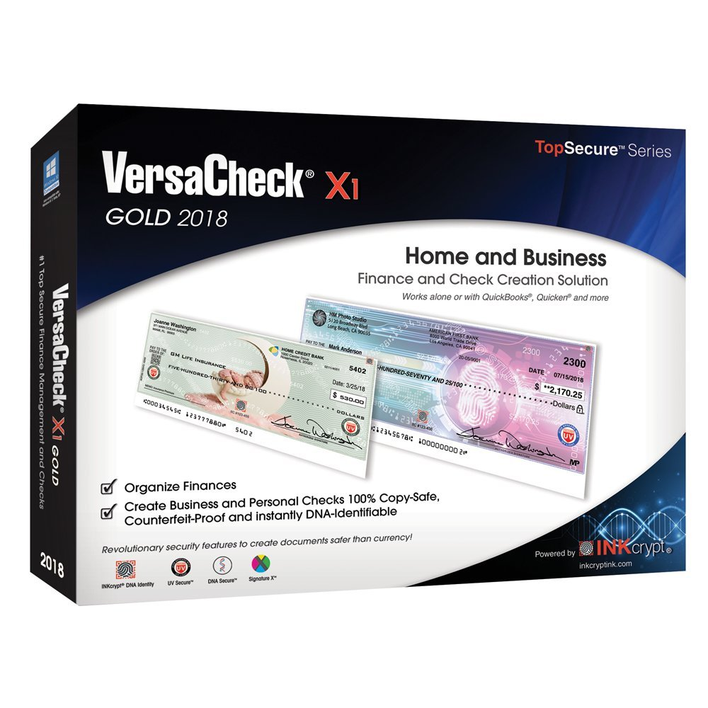 VersaCheck X1 Gold 2018 - Finance & Check Creation Software by VersaCheck