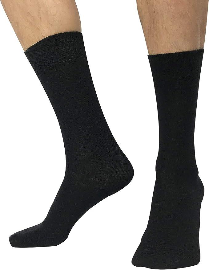 Calcetines hombres algodon peinado de alta calidad - Pack 6 pares - Tallas 36 a 46: Amazon.es: Ropa y accesorios