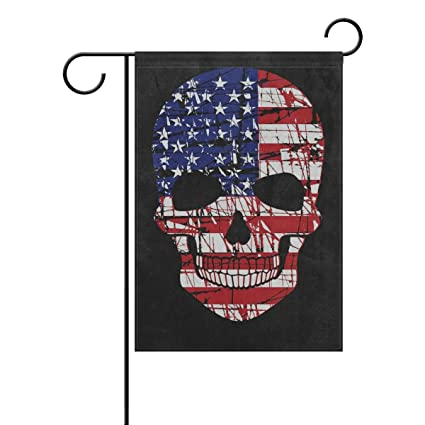 Thenahome Decorative Flags For Outside Double Sided Welcome Garden Flag With Novelty Sugar Skull For Yard Flags Outdoor Flags