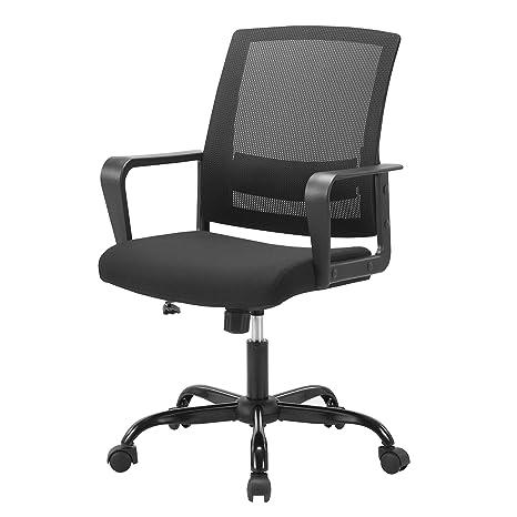 Awesome Amazon Com Mid Back Ergonomic Office Chair Mesh Swivel Evergreenethics Interior Chair Design Evergreenethicsorg