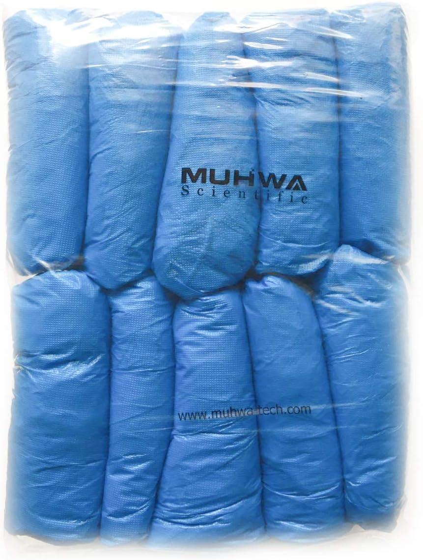 mueen azul CPE zapatos desechables cubre fundas de botas (100 unidades) 2,5 G por paquete