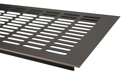 Rejilla de ventilación/rejilla de radiador en la parte superior 150 x 1000 mm marrón