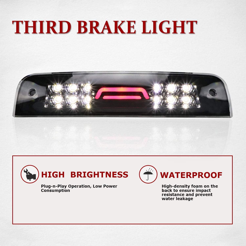 Third 3rd Brake Light For Dodge Ram 1500 2500 3500 2009-2018 Led Bar High Mount Stop Lights Rear Tail Cargo Lamps Clear Lens