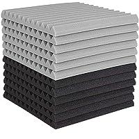 Nrpfell 12 Pcs Acoustic Foam Board,Studio Wedge Tile,Acoustic Foam Soundproof Pyramid Studio Treatment Wall Panel 2…