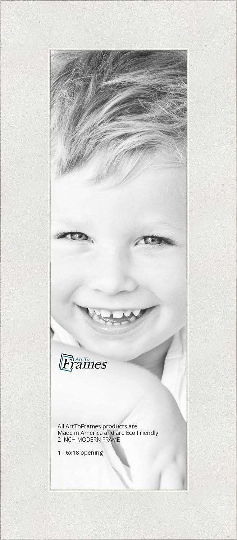 Amazon.com - ArtToFrames 6x18 inch Modern White Frame Picture Frame ...