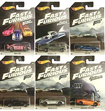 Multicolor Modell sortiert MT-FKF06, Mattel Fast /& Furious Auto Die Cast 1:64