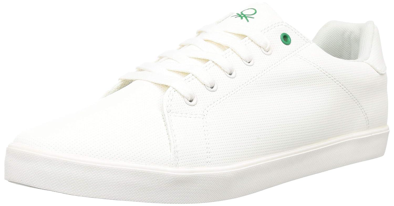 BENETTON. Men's White Sneakers-10 UK EU