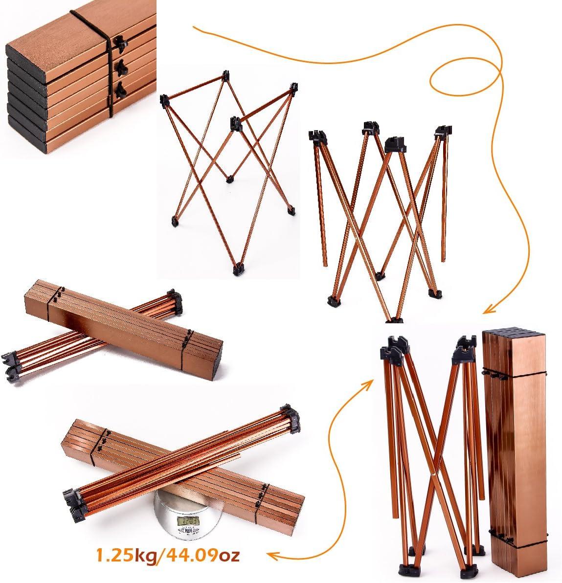 TRIWONDER Table de Camping Pliante Table Pliable en Aluminium Ultral/ég/ère Portable Pratique pour Camping Pique-Nique Barbecue P/êche