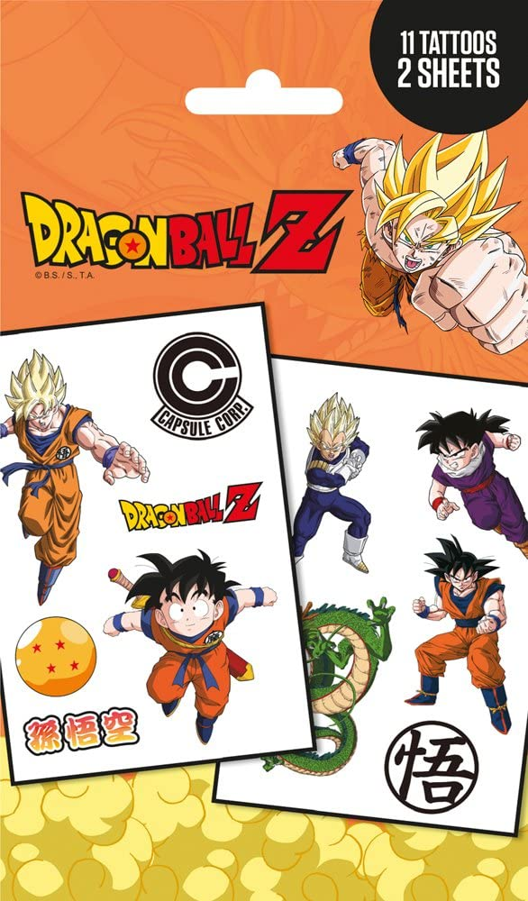 GB Eye, Dragon Ball Z, Mix, Temporary Pack de Tatuajes: Amazon.es ...