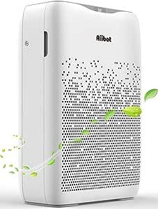 Aiibot Purificador de Aire con Flitro HEPA Carbón Activado,hasta 55 m² para 99,97% Polvo/Olor/Pelos Animales/Humo/Alérgenos en Aire, Función de Temporizador, 4 Velocidades de Viento.