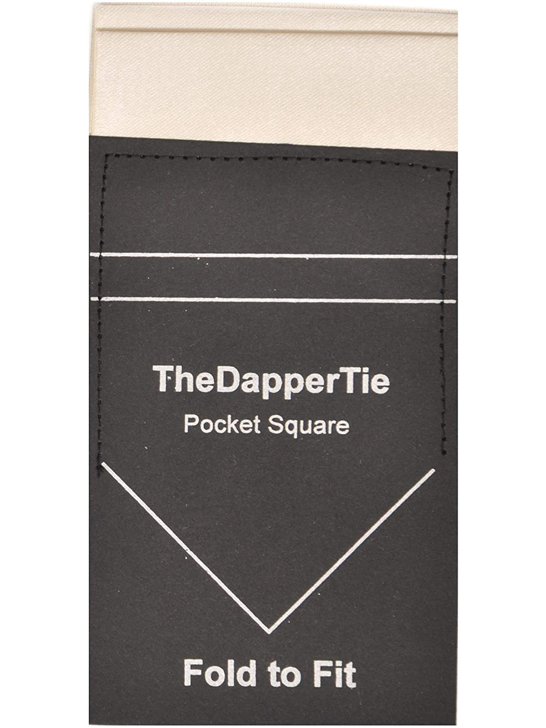 Mens Solid Flat Double Toned Pre Folded Pocket Square on Card TheDapperTie