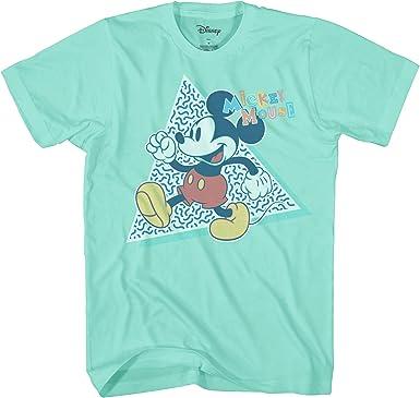 Disney Mickey Mouse 90 Nostalgia Classic Retro Vintage Disneyland World Funny Humor Camiseta para hombre: Amazon.es: Ropa y accesorios