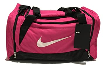 Nike Brasilia Duffel Bag Training Sports Holdall gym Travel Bag Small --  Pink dfca1617bcdcd