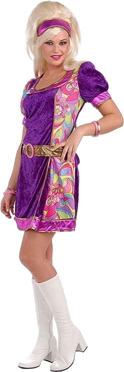60s Costumes: Hippie, Go Go Dancer, Flower Child, Mod Style Forum Novelties Womens 60s Revolution Funky Time Go-Go Girl Costume $27.68 AT vintagedancer.com