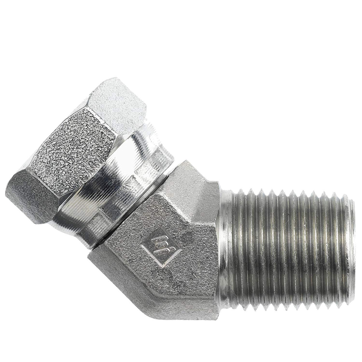 1503-08-08 Hydraulic Fitting 1//2 Male Pipe X 1//2 Female Pipe Swivel 45 Degree Degree Carbon Steel