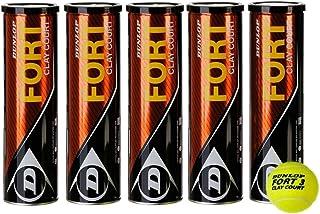 Dunlop Fort Clay Court Tennisball 5 x 4er Dosen 20 Bälle Dunlop-Sport