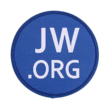 Pack of 2 Jw org Patch Embroidered
