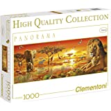 Clementoni 39259.9 - Puzzle High Quality Kollektion Panorama Afrikanische Savanne, 1000 Teile