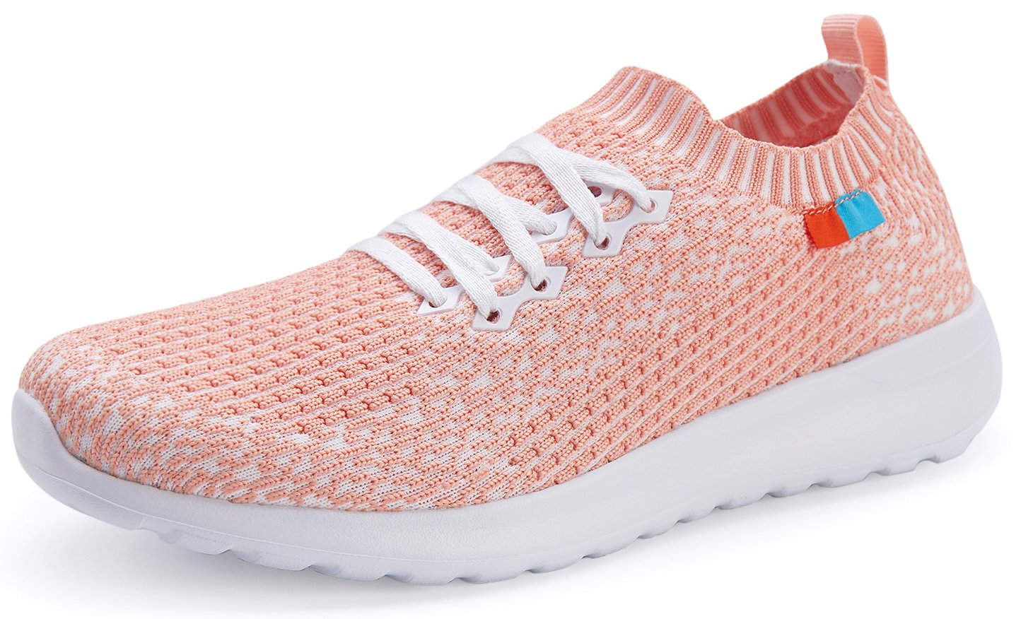 Forucreate Women's Casual Lightweight Pink Sneakers Summer Flats Breathable Mesh Running Shoes(Pink 41)
