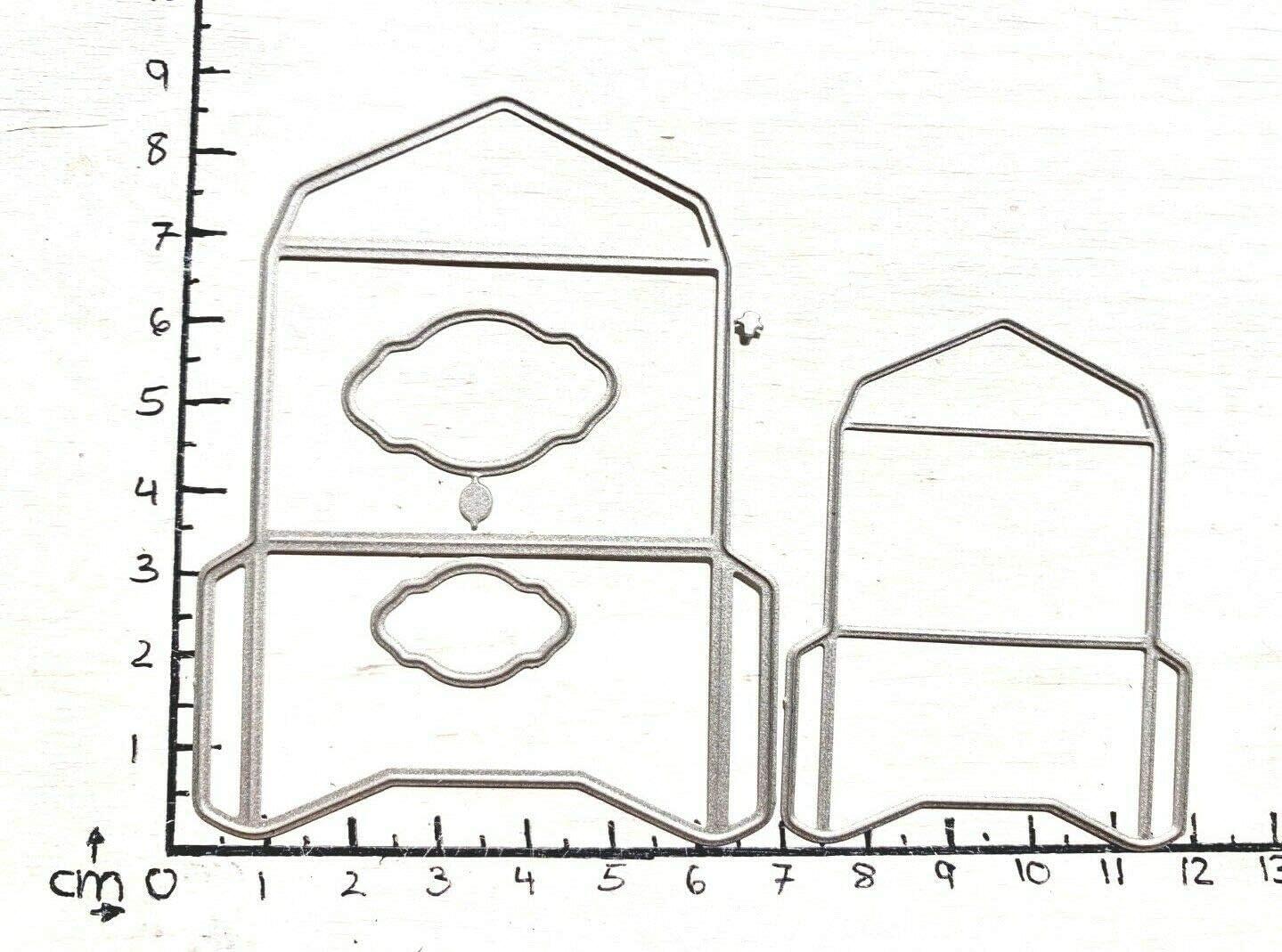 Simplelettering Stanzschablone Cutting die 3D Briefumschlag Umschl/äge 2 STK 3,5x5 /& 2,5x4cm