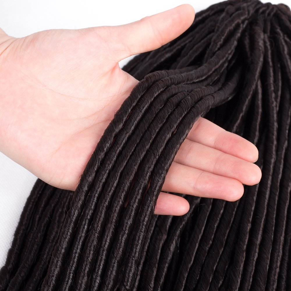 Amazon Vrhot 6packs 20 Goddess Faux Locs Crochet Hair Braids