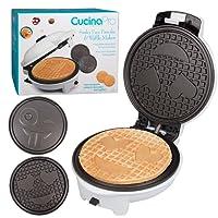 Emoji Waffler & Pancake Maker- Non-stick Electric Smiley Face Waffle Iron Pan Cake Griddle