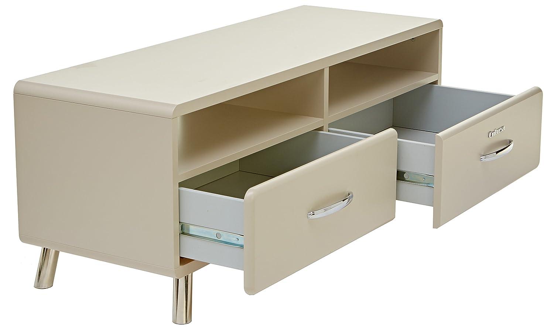Tenzo 4942-083 COBRA Designer Banc TV avec 2 Tiroirs Panneaux de particules//MDF Beige 118 x 43 x 46 cm