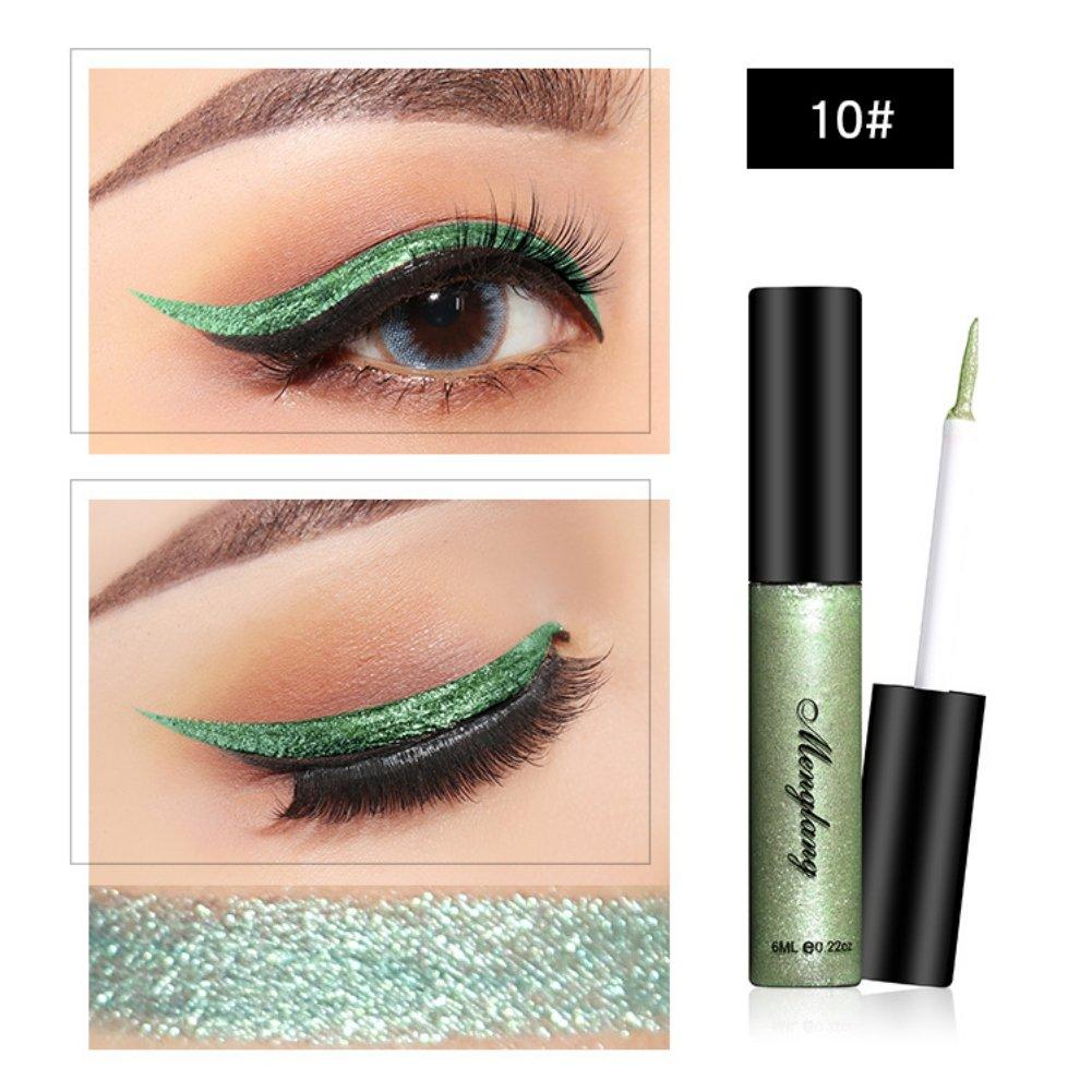 Moresave 13 Couleurs Diamant Glitter Liquide Eyeliner Étanche Longue Durée Ombre Bâton D'ombre