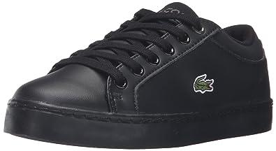 Lacoste Kids' Straightset Lace 316 1 Spc Blk Sneaker, Black