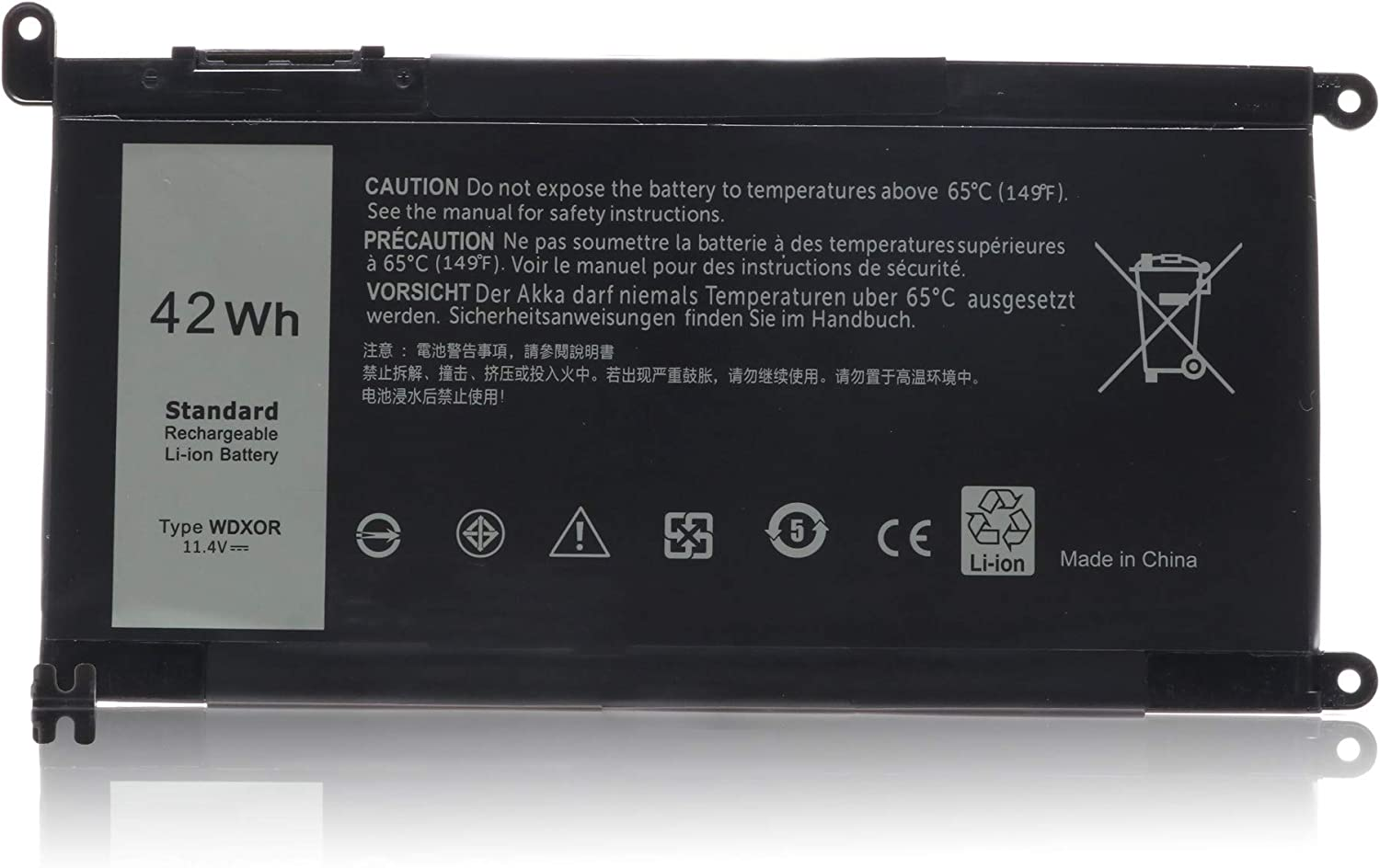 New WDX0R for New Battery Replacement for Dell Inspiron 13 5368 5378 15 5565 5567 5568 5578 17 5765 5767 7368 7378 7560 7570 7579 7569 P58F 3CRH3 T2JX4 FC92N CYMGM