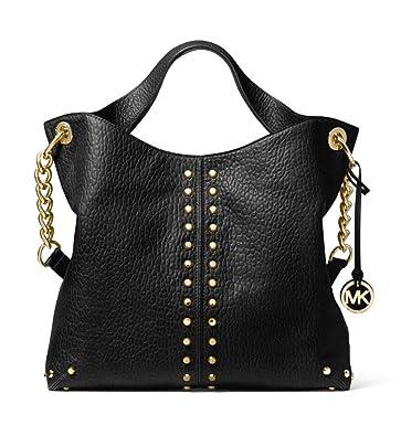 3b46cdeb07d8 MICHAEL Michael Kors Uptown Astor Pebbled Leather Shoulder Bag in Black:  Handbags: Amazon.com