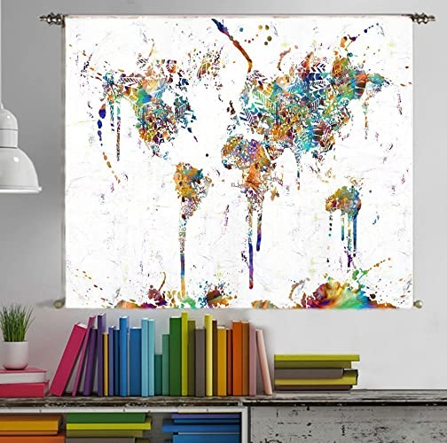 Amazon world map poster tapestry wall hanging large canvas wall world map poster tapestry wall hanging large canvas wall art print painting home decor for kids gumiabroncs Images